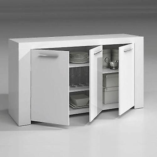 Ambit Buffet 3 Portes Blanc Brillant 144x80x42cm (Disponible mi-décembre)