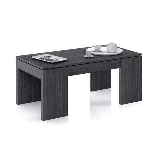 Kendra table basse gris transformable plateau relevable - Kendra table basse blanche plateau relevable ...