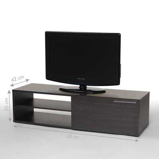 kikua meuble tv contemporain m lamin gris cendr l 130 cm discount s n gal. Black Bedroom Furniture Sets. Home Design Ideas