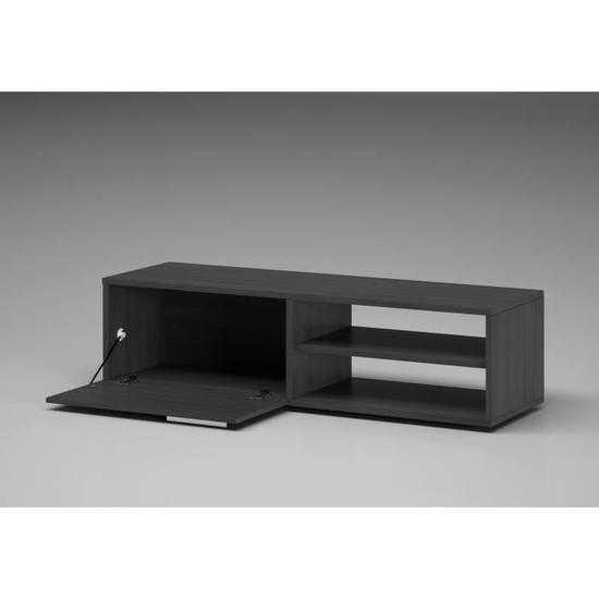 kikua meuble tv contemporain m lamin gris cendr l 130 cm discount s n gal. Black Bedroom Furniture Sets. Home Design Ideas