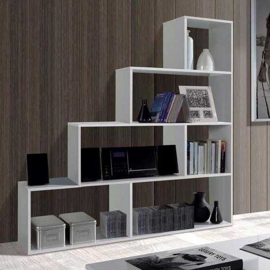 klum meuble escalier contemporain m lamin blanc brillant l 145 cm discount s n gal. Black Bedroom Furniture Sets. Home Design Ideas