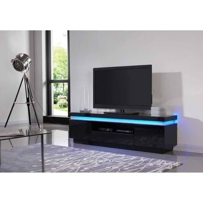 FLASH Meuble TV contemporain en bois avec LED Discount Sénégal
