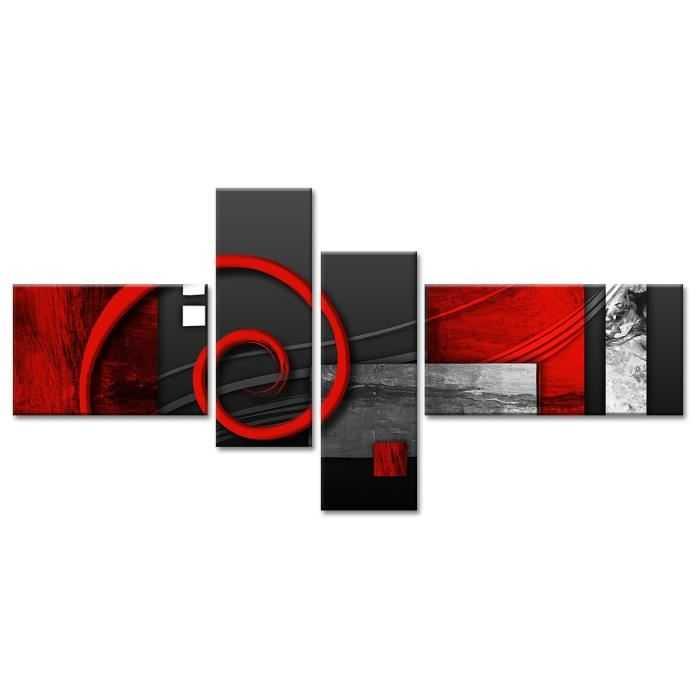 Dance tableau multi panneaux 130x65 cm rouge discount - Tableau multi panneaux ...