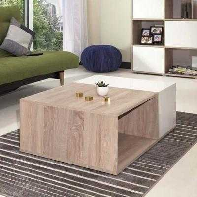 mega table basse style contemporain m lamin e d co. Black Bedroom Furniture Sets. Home Design Ideas