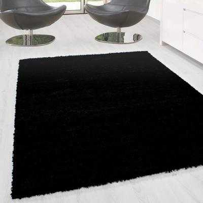 tapis shaggy pile longue prime 9000 noir 200 200 discount s n gal. Black Bedroom Furniture Sets. Home Design Ideas