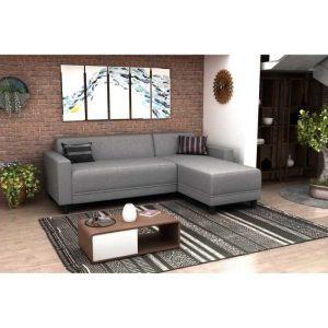 bob canapé d'angle réversible 3 places – gris clair
