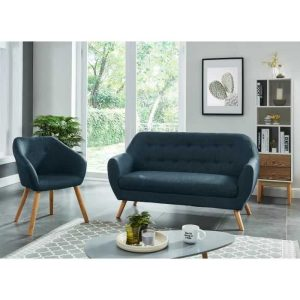 hilda ensemble canapé droit fixe 2 places et 1 fauteuil