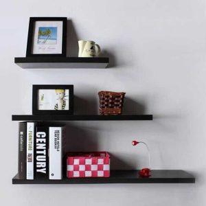 tablettes murales étagères flottantes étagères de rangement en mdf