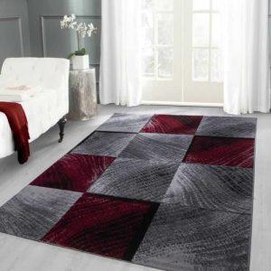 tapis moderne designe plus 8003 rouge (200×290 cm)