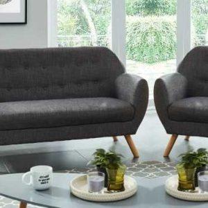 hilda ensemble canapé droit fixe 1 place et 2 fauteuils