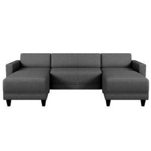 disponible en noir,rouge,gris,marron et taupe canapé nazaré 5 places – tissu en forme de u