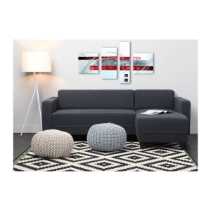 nazaré canapé d angle réversible 3 places – tissu gris anthracite – contemporain – l 200 x p 141 cm…