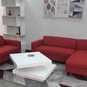 disponible en rouge,noir,taupe,marron et gris….nazaré canapé d'angle réversible 3 places + canapé 2 places